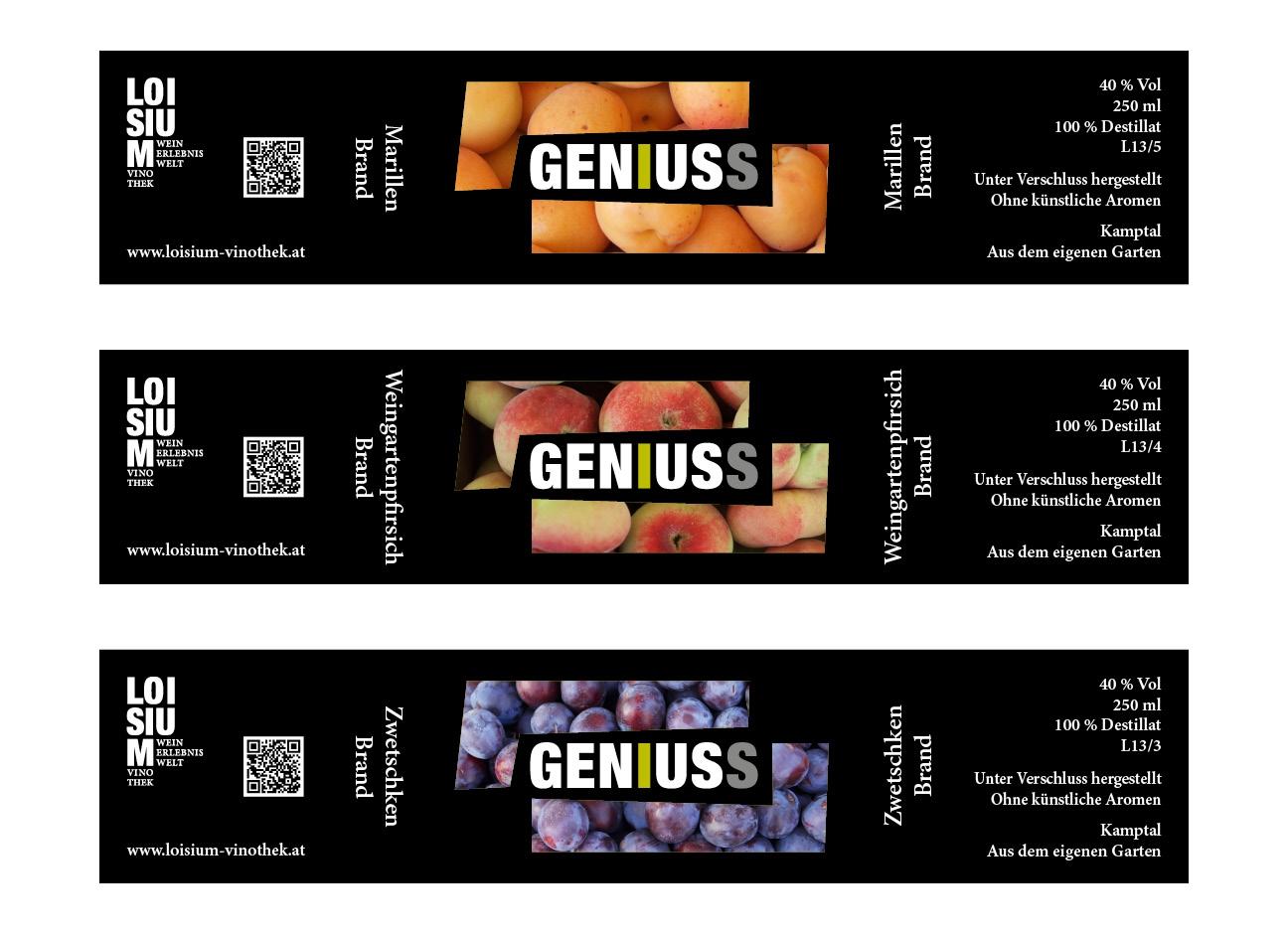 Geniuss Brand Etiketten