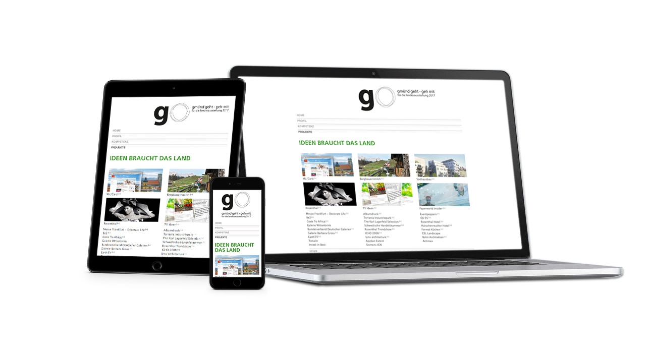 go 17 responsive Webdesign - Desktop, Tablet, Smartphone
