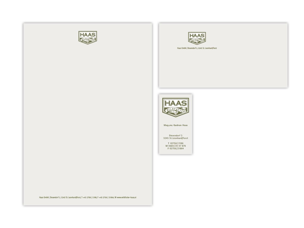 Haas Corporate Design Geschäftsausstattung
