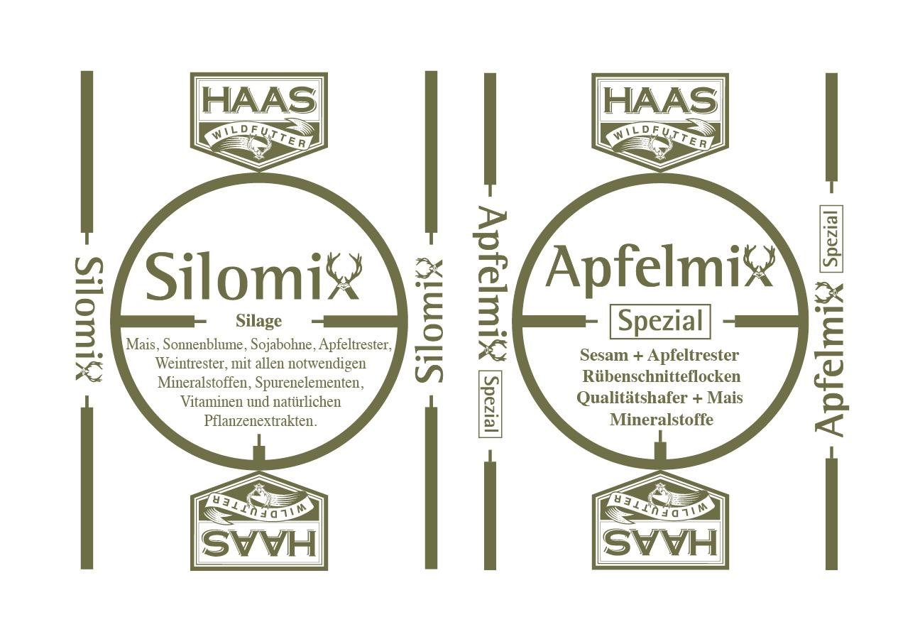 Haas Wildfutter Corporate Design Verpackung Produktsäcke