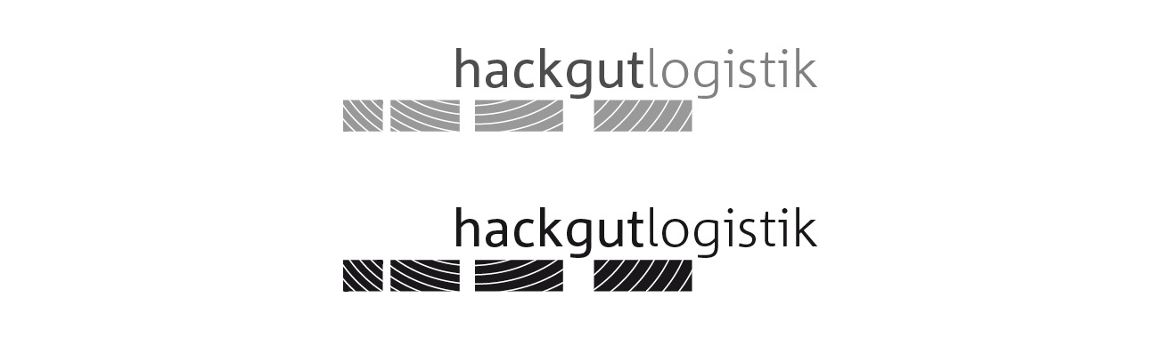 Hackgutlogistik Corporate Design Logos einfärbig
