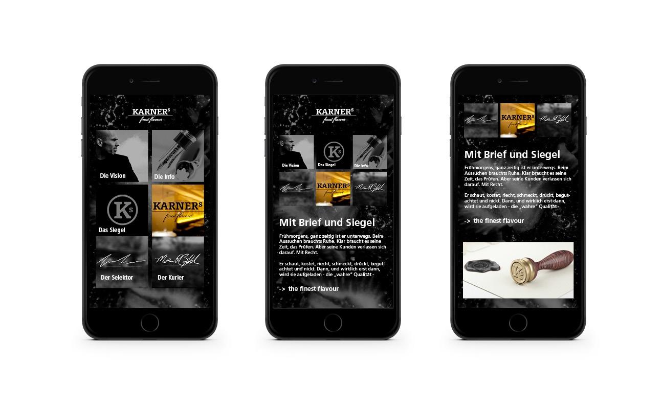 Karners Responsive Webdesign Smartphone