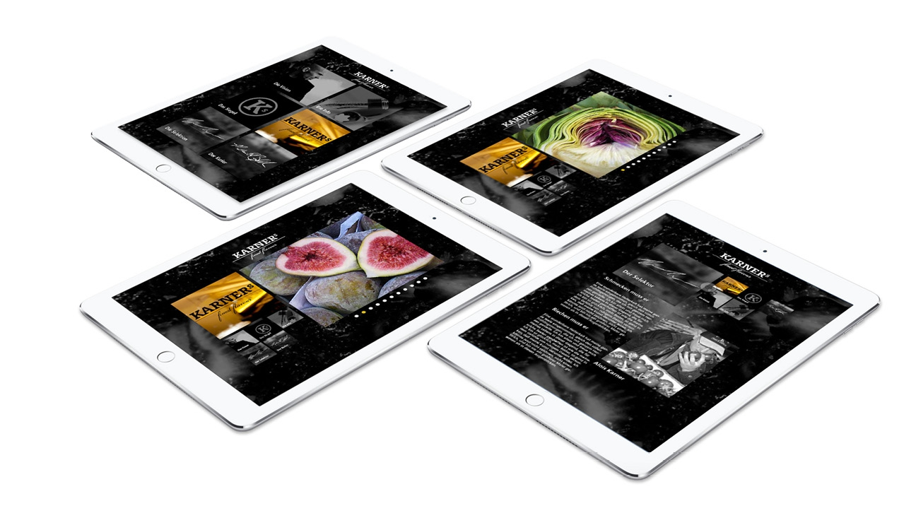 Karners Responsive Webdesign Tablet