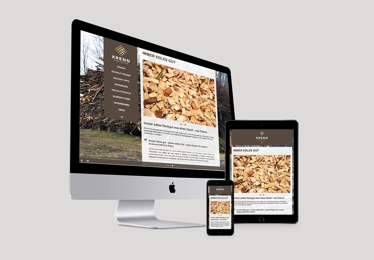 Krenn Responsive Webdesign Homepage