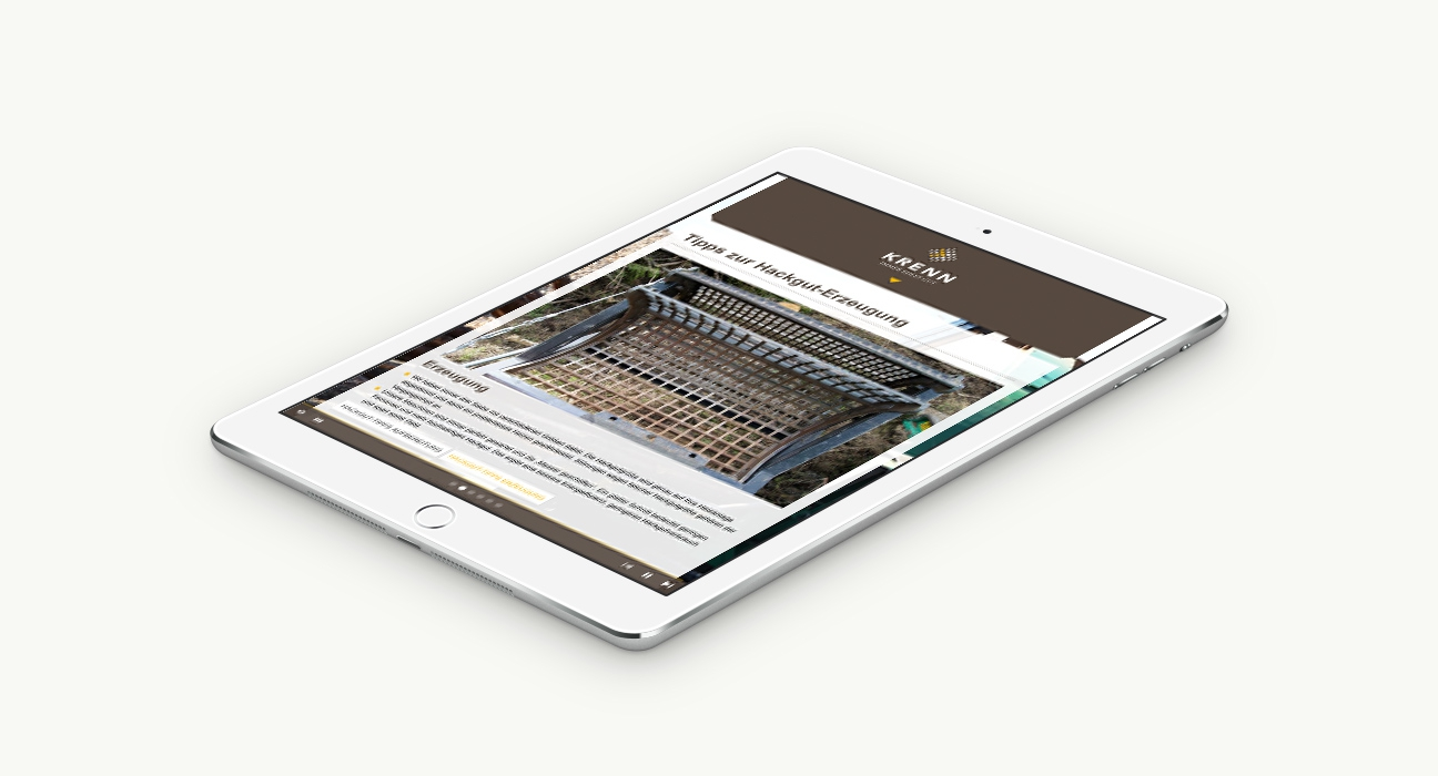 Krenn Responsive Website Tablet