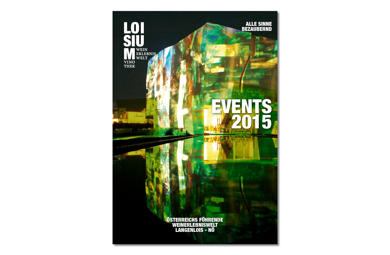 Loisium Folder Titelseite Events