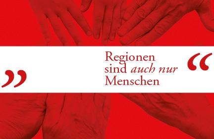 Buchgestaltung <br />,,Regionen sind auch nur Menschen&#8220;