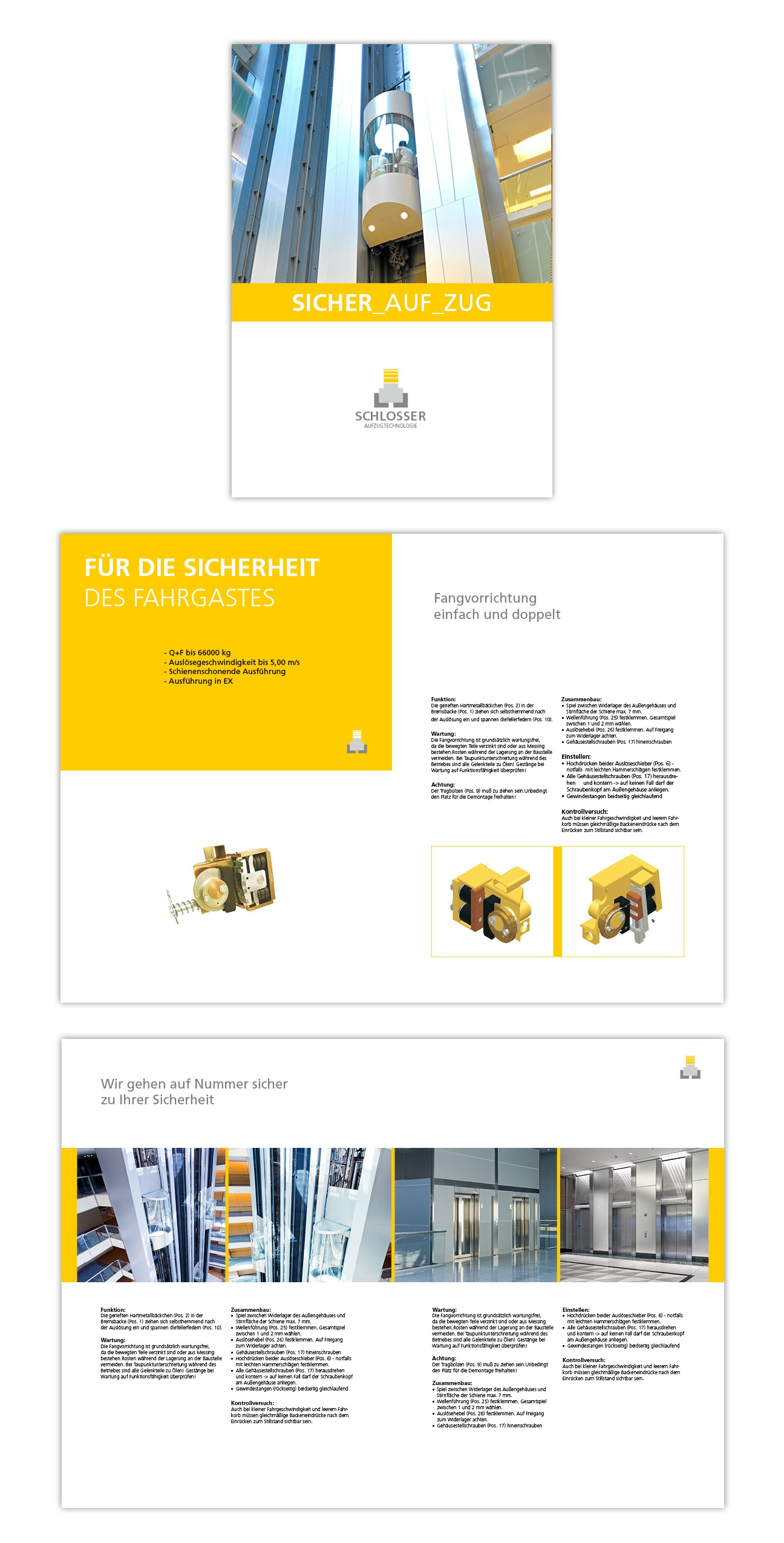 Schlosser Corporate Design Image Prospekt