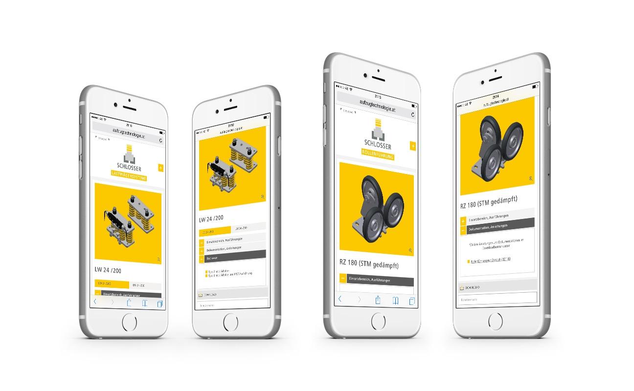Schlosser Responsive Webdesign Smartphone