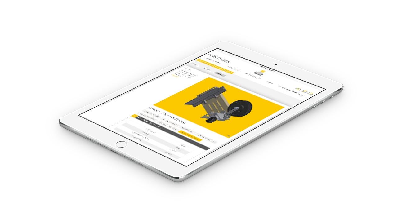 Schlosser Responsive Webdesign Tablet