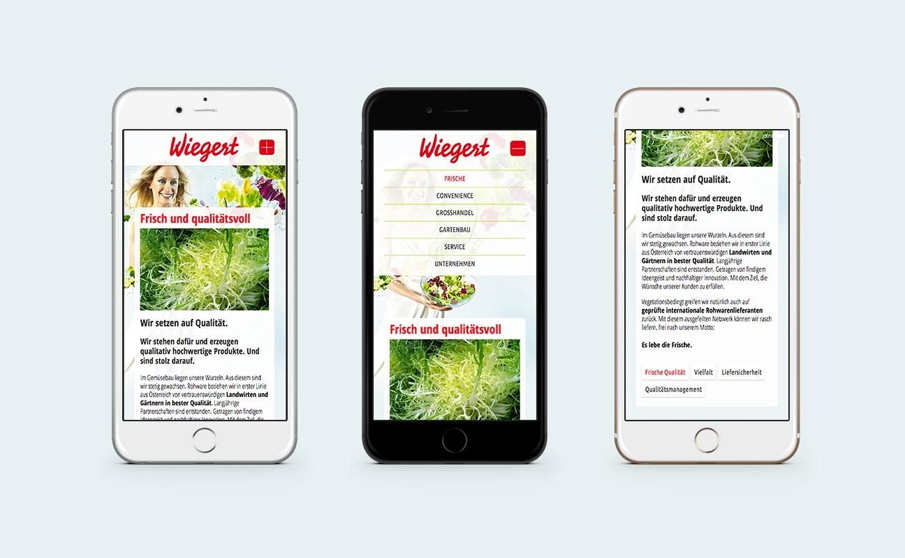 Wiegert Responsive Webdesign Mobile Navigation